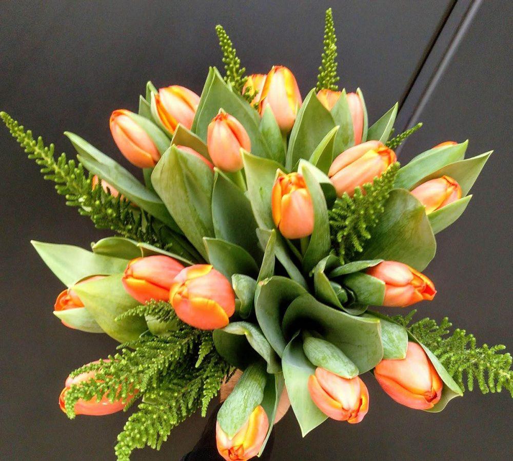 floristeriaparque3_Ramo_tulipanes_naranja